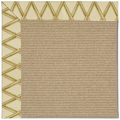 Zoe Machine Tufted Bamboo/Brown Indoor/Outdoor Area Rug Rug Size: Square 10