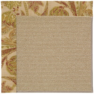 Zoe Machine Tufted Tan/Brown Indoor/Outdoor Area Rug Rug Size: Round 12 x 12