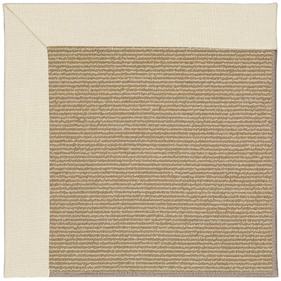 Zoe Machine Tufted Sandy/Brown Indoor/Outdoor Area Rug Rug Size: Round 12 x 12