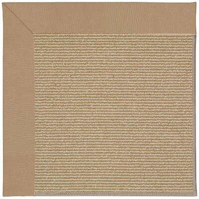 Zoe Machine Tufted Biscuit/Brown Indoor/Outdoor Area Rug Rug Size: Round 12 x 12