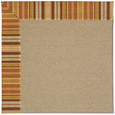 Zoe Machine Tufted Button Mushroom/Brown Indoor/Outdoor Area Rug Rug Size: Round 12 x 12