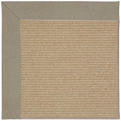 Zoe Machine Tufted Buff/Brown Indoor/Outdoor Area Rug Rug Size: Square 8