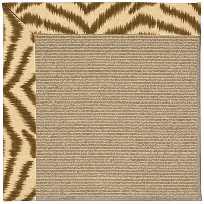 Zoe Machine Tufted Tawny/Brown Indoor/Outdoor Area Rug Rug Size: Square 6