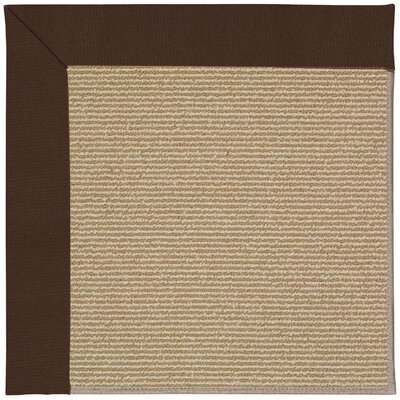 Zoe Machine Tufted Brown and Beige Indoor/Outdoor Area Rug Rug Size: Square 10
