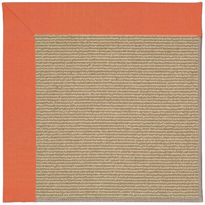 Zoe Machine Tufted Sorrel/Brown Indoor/Outdoor Area Rug Rug Size: 7 x 9
