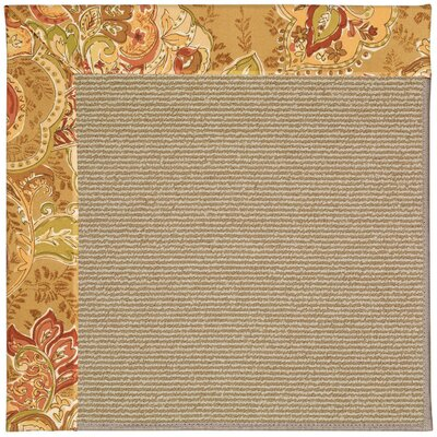 Zoe Machine Tufted Bronze Flowers/Brown Indoor/Outdoor Area Rug Rug Size: Square 4'