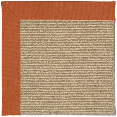 Zoe Machine Tufted Russet/Brown Indoor/Outdoor Area Rug Rug Size: Round 12 x 12