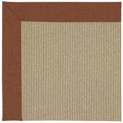 Zoe Machine Tufted Brown/Beige Indoor/Outdoor Area Rug Rug Size: Square 4