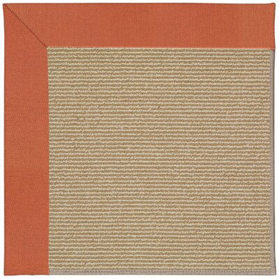 Zoe Orange/Beige Indoor/Outdoor Area Rug Rug Size: Square 4