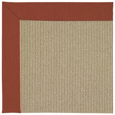 Zoe Machine Tufted Strawberry/Brown Indoor/Outdoor Area Rug Rug Size: Square 10