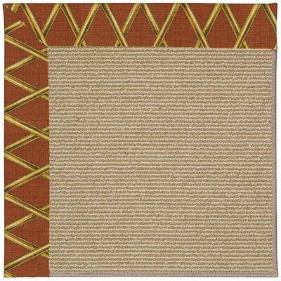 Zoe Machine Tufted Cinnabar Honey and Beige Indoor/Outdoor Area Rug Rug Size: Square 4