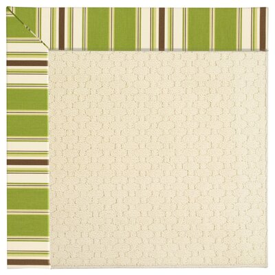 Zoe Off White Indoor/Outdoor Area Rug Rug Size: Square 10'