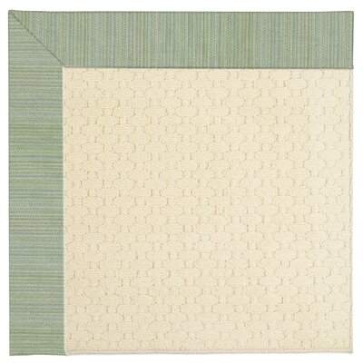 Zoe Light Beige Spa Indoor/Outdoor Area Rug Rug Size: Square 6