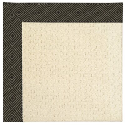 Zoe Beige Indoor/Outdoor Area Rug Rug Size: Square 4'