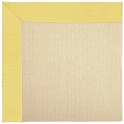 Zoe Machine Tufted Yellow/Beige Indoor/Outdoor Area Rug Rug Size: Round 12 x 12
