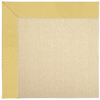 Zoe Machine Tufted Lemon Indoor/Outdoor Area Rug Rug Size: Square 6