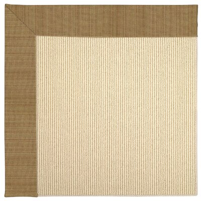 Zoe Machine Tufted Golden/Beige Indoor/Outdoor Area Rug Rug Size: Round 12 x 12