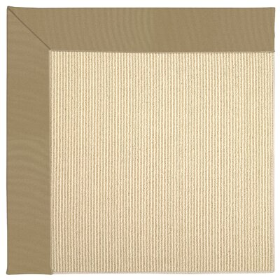 Zoe Machine Tufted Light Gold/Beige Indoor/Outdoor Area Rug Rug Size: Round 12 x 12