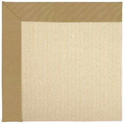Zoe Machine Tufted Bronze/Beige Indoor/Outdoor Area Rug Rug Size: Round 12' x 12'