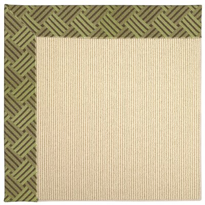 Zoe Machine Tufted Mossy Green/Brown Indoor/Outdoor Area Rug Rug Size: Square 4