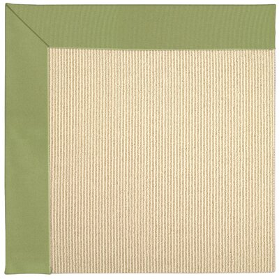 Zoe Machine Tufted Green/Brown Indoor/Outdoor Area Rug Rug Size: Round 12 x 12