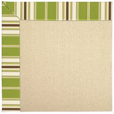 Zoe Machine Tufted Green/Brown Indoor/Outdoor Area Rug Rug Size: Rectangle 7 x 9