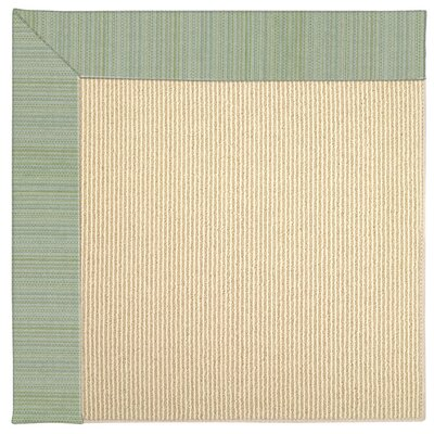 Zoe Machine Tufted Green Spa Indoor/Outdoor Area Rug Rug Size: Square 6