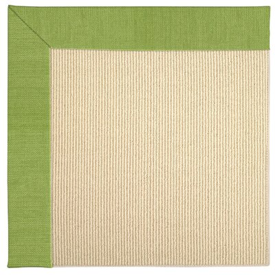 Zoe Machine Tufted Grass/Brown Indoor/Outdoor Area Rug Rug Size: Round 12 x 12