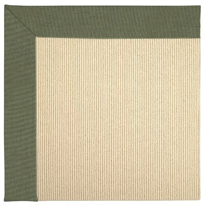 Zoe Machine Tufted Plant Green Indoor/Outdoor Area Rug Rug Size: Square 4'