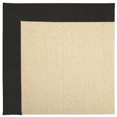 Zoe Machine Tufted Black/Beige Indoor/Outdoor Area Rug Rug Size: Round 12 x 12