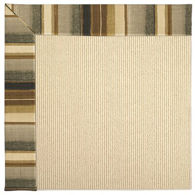 Zoe Machine Tufted Cinders/Brown Indoor/Outdoor Area Rug Rug Size: Square 8