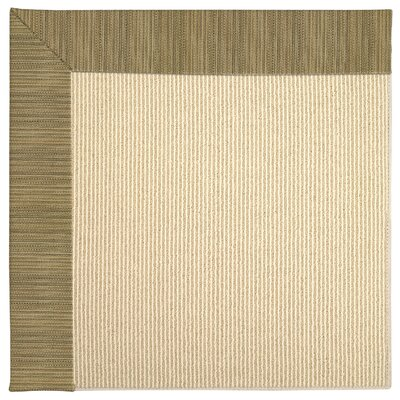Zoe Machine Tufted Green/Brown Indoor/Outdoor Area Rug Rug Size: Square 10