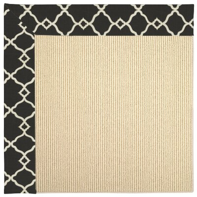 Biltmore Heritage Shiraz Hand Knotted Black/Beige Area Rug Rug Size: 76 x 96