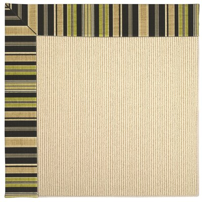 Zoe Machine Tufted Charcoal/Beige Indoor/Outdoor Area Rug Rug Size: Round 12 x 12