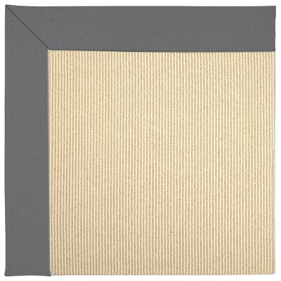 Zoe Beach Sisal Machine Tufted Beige/Ash Indoor/Outdoor Area Rug Rug Size: Square 4
