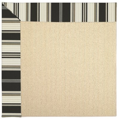 Zoe Machine Tufted Onyx Indoor/Outdoor Area Rug Rug Size: Square 6
