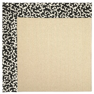 Zoe Machine Tufted Black Cascade Indoor/Outdoor Area Rug Rug Size: Square 4