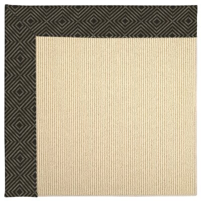 Zoe Machine Tufted Magma/Brown Indoor/Outdoor Area Rug Rug Size: Square 6'