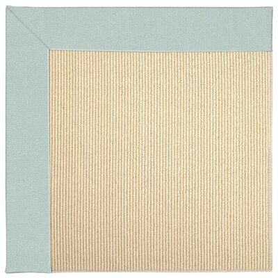 Zoe Machine Tufted Iceberg/Beige Indoor/Outdoor Area Rug Rug Size: Square 10