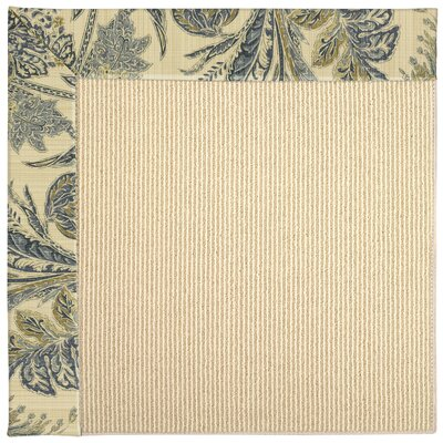 Zoe Machine Tufted High Seas/Beige Indoor/Outdoor Area Rug Rug Size: Square 8