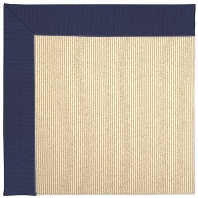 Zoe Machine Tufted Navy/Beige Indoor/Outdoor Area Rug Rug Size: Square 4
