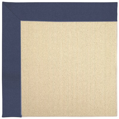 Zoe Machine Tufted Blue/Beige Indoor/Outdoor Area Rug Rug Size: Round 12 x 12