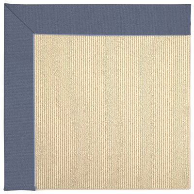 Zoe Machine Tufted Azure/Brown Indoor/Outdoor Area Rug Rug Size: Round 12 x 12