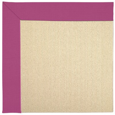 Zoe Machine Tufted Fuchsia/Brown Indoor/Outdoor Area Rug Rug Size: Square 8