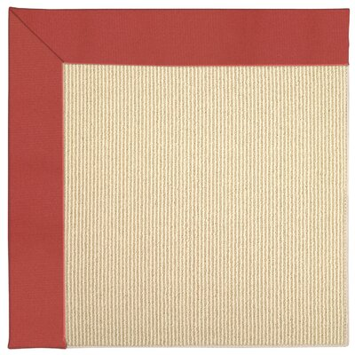 Zoe Machine Tufted Sunset Red/Beige Indoor/Outdoor Area Rug Rug Size: Round 12 x 12