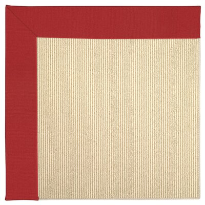 Zoe Machine Tufted Red/Beige Indoor/Outdoor Area Rug Rug Size: Square 6