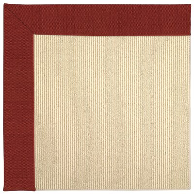 Zoe Machine Tufted Tomatoes/Brown Indoor/Outdoor Area Rug Rug Size: Square 8