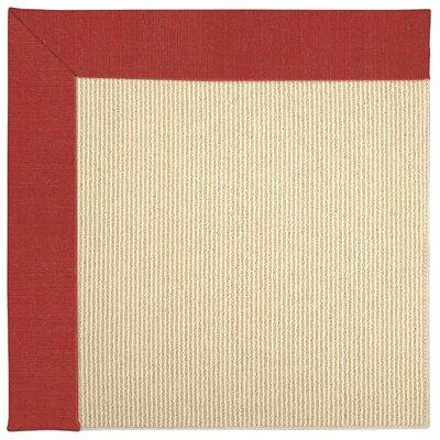 Zoe Machine Tufted Red Crimson/Beige Indoor/Outdoor Area Rug Rug Size: Round 12 x 12
