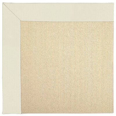 Zoe Machine Tufted Alabaster Indoor/Outdoor Area Rug Rug Size: Square 6