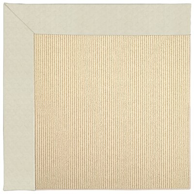Zoe Machine Tufted Cream/Brown Indoor/Outdoor Area Rug Rug Size: Square 8
